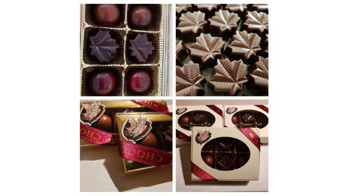 Chocolats noirs 70 % cacao au beurre d'érable - 3 unités